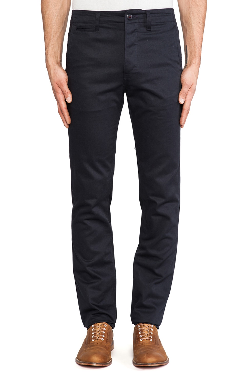 United Stock Dry Goods Twill Chino in Navy