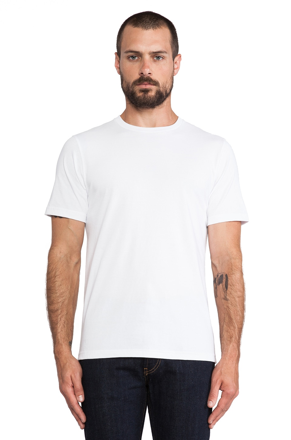 United Stock Dry Goods 40-Single T-Shirt in White