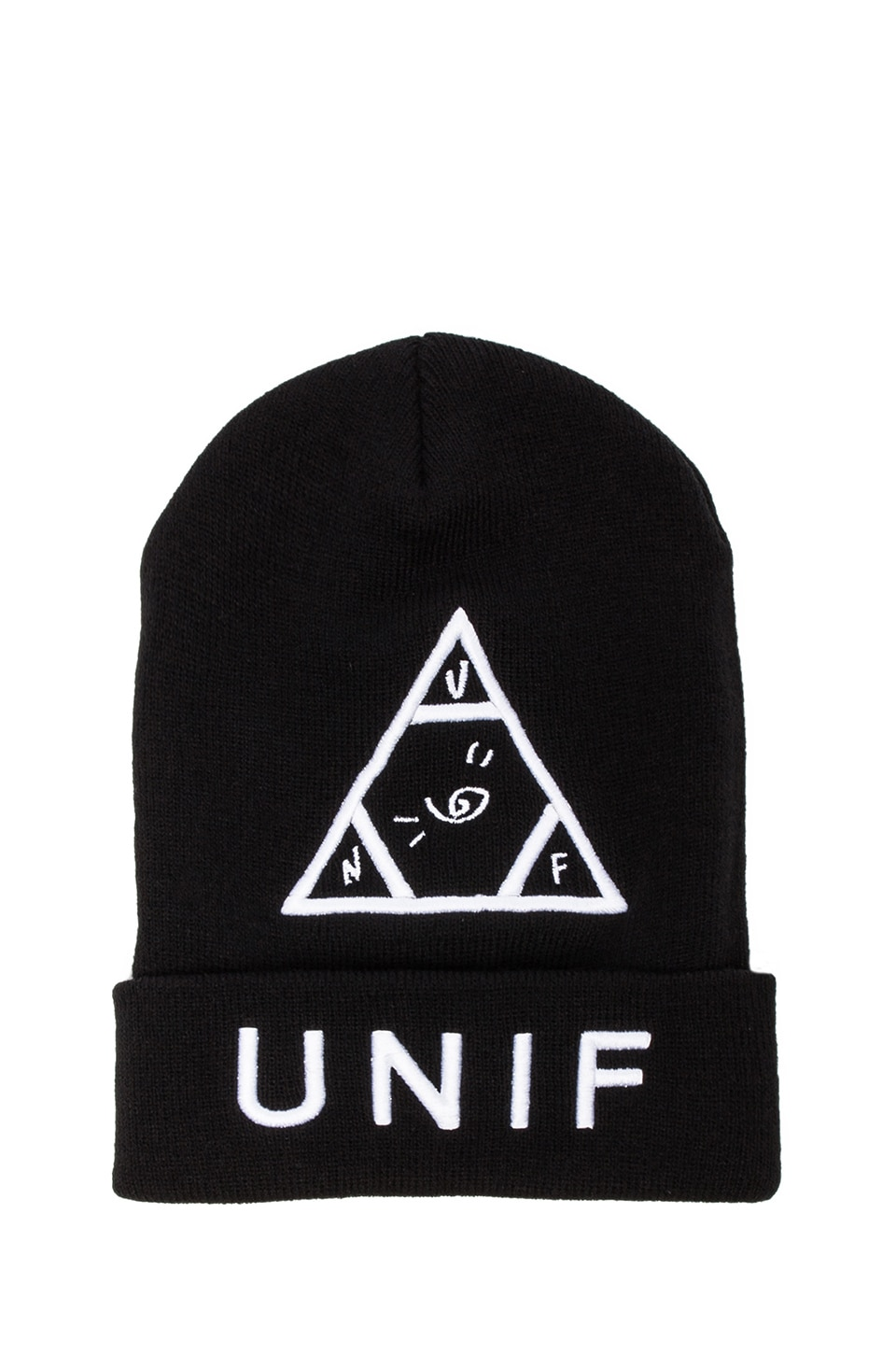 UNIF Logo Beanie in Black