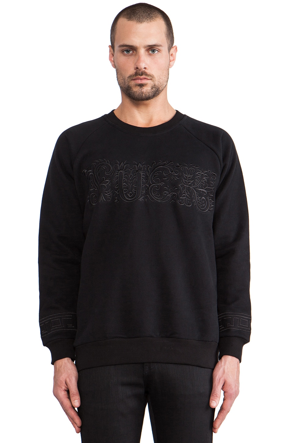 UNIF Ornate Sweatshirt in Black