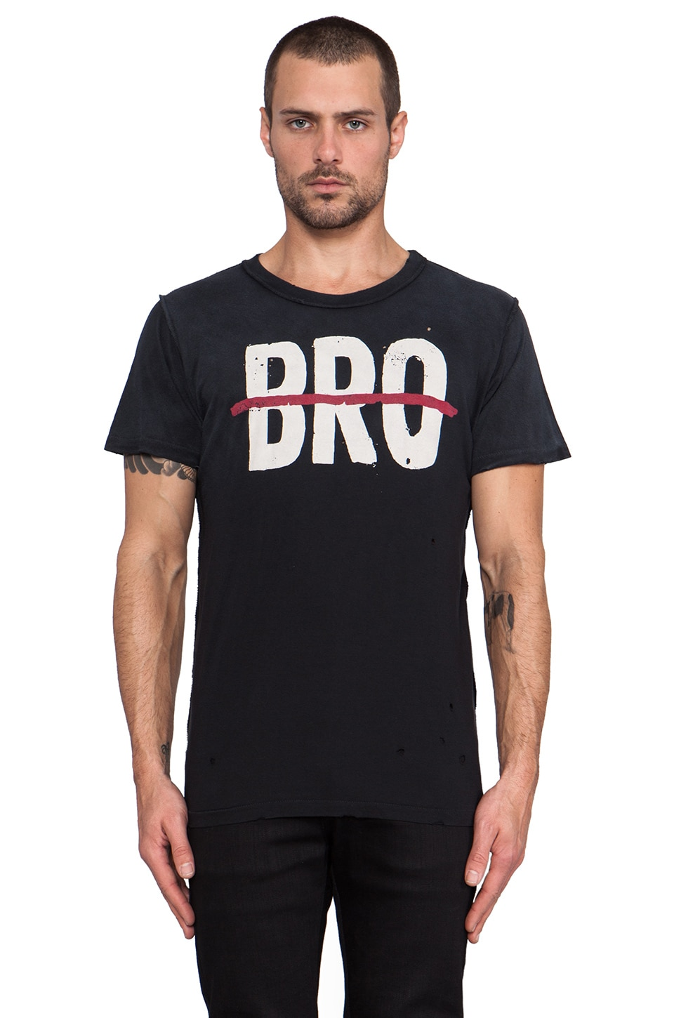UNIF No Bro Tee in Black