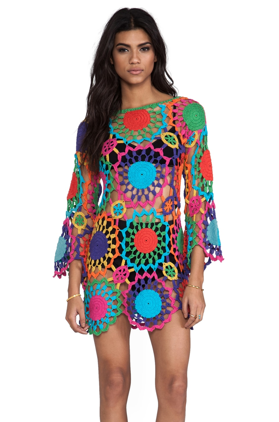 UNIF Psych Out Dress in Multi