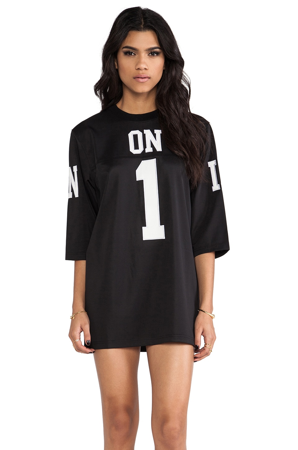 UNIF ON1 Jersey Dress in Black