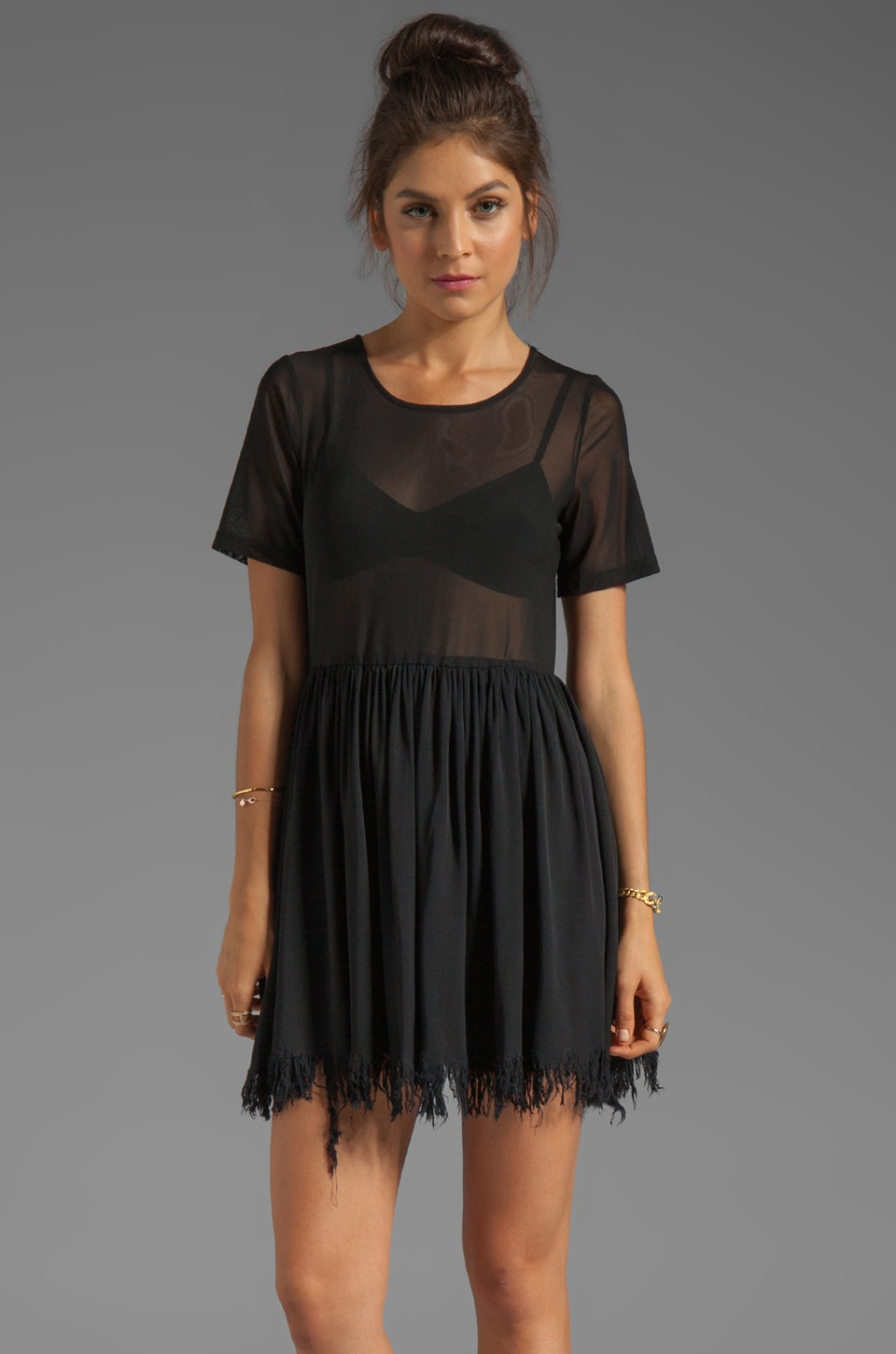 UNIF Shredder Dress in Black