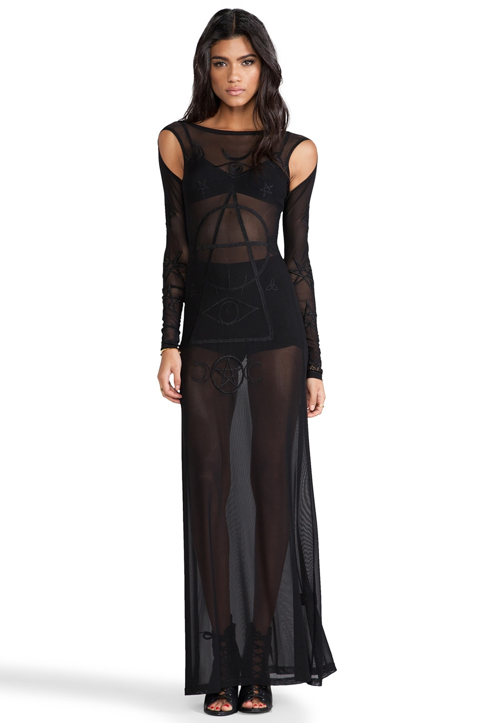 UNIF Wiccan Dress in Black