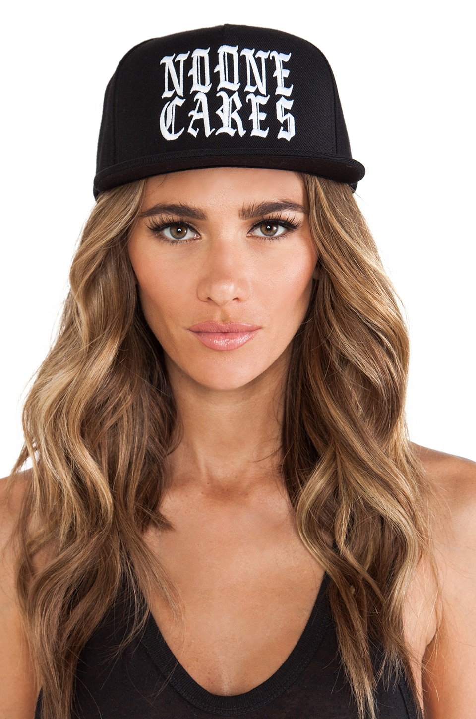 UNIF No One Cares Hat in Black