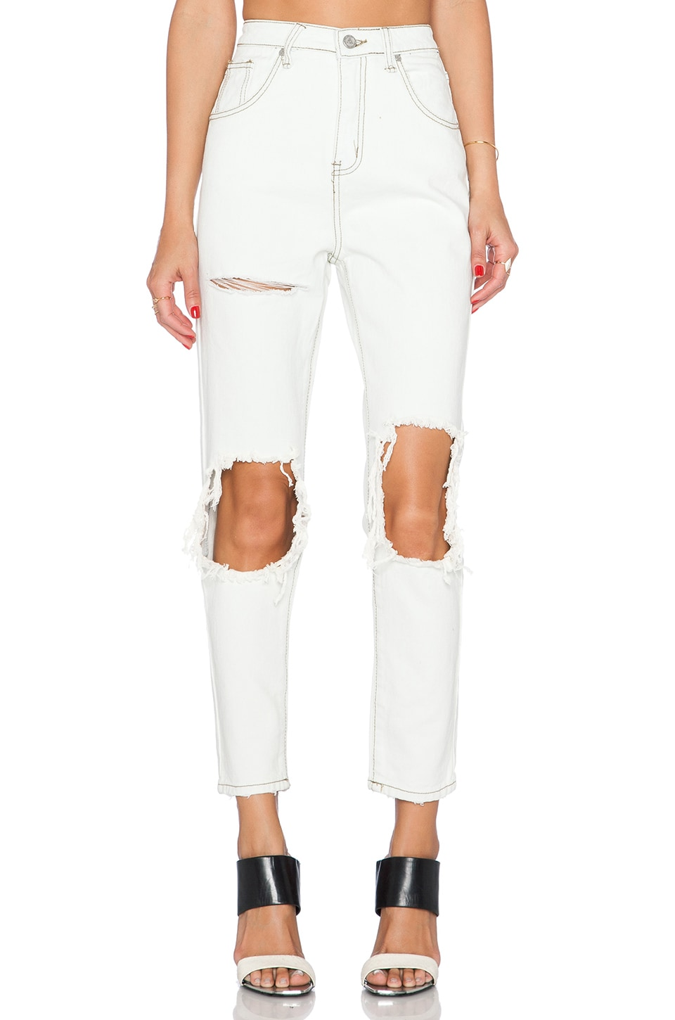 UNIF Costa High Rise Skinny in Dirty White