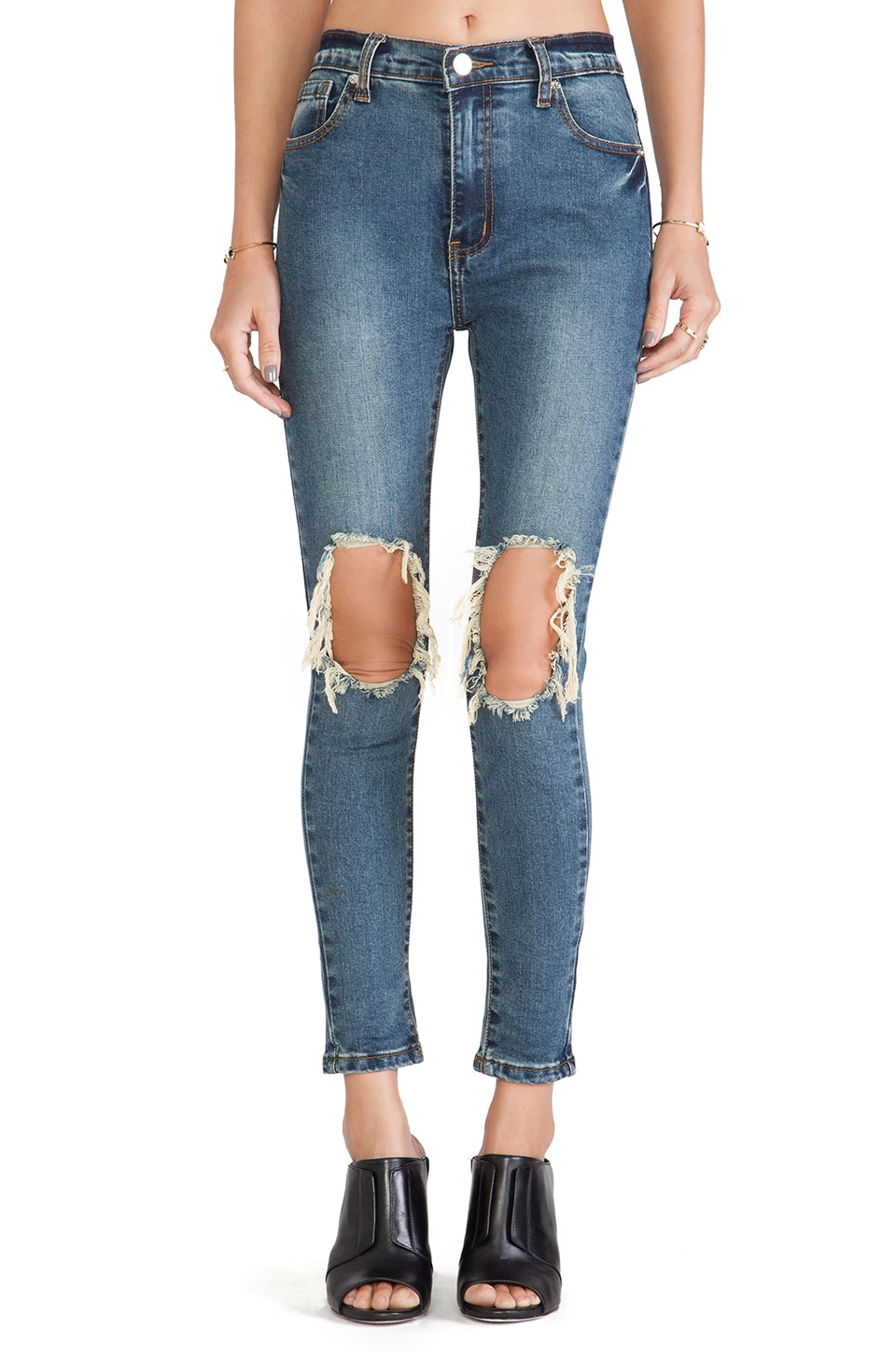 UNIF Peach Pit Skinnies in Blue
