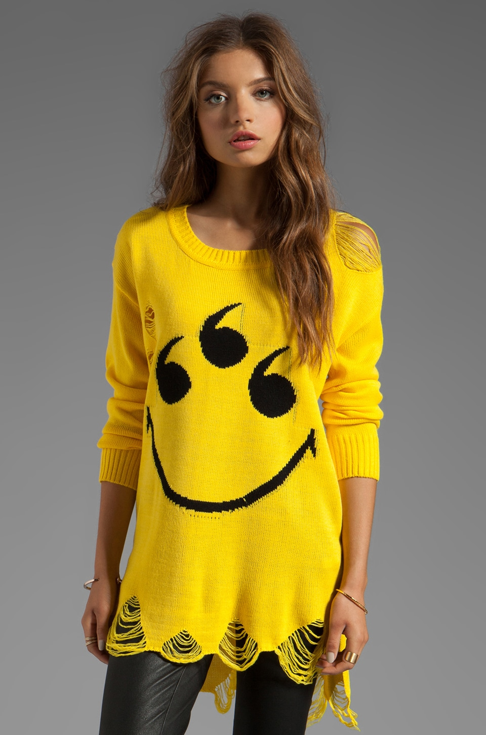 UNIF 6 Eyes Sweater in Yellow
