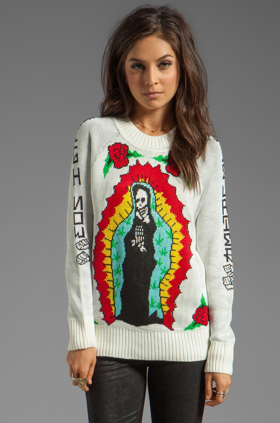 UNIF High Now Sweater in White