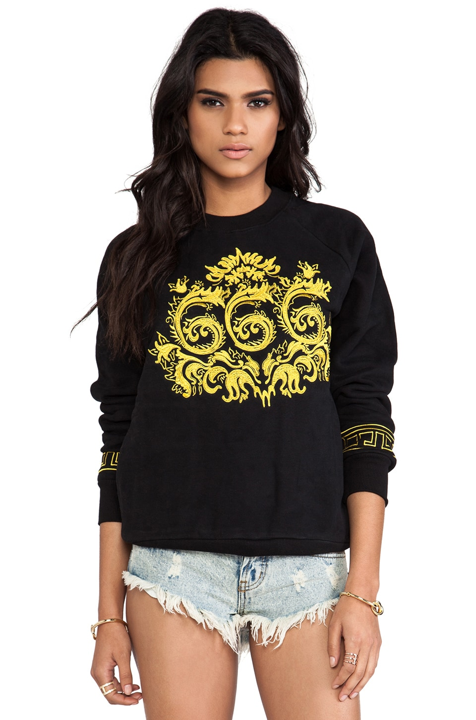 UNIF Ornate6 Sweatshirt in Black