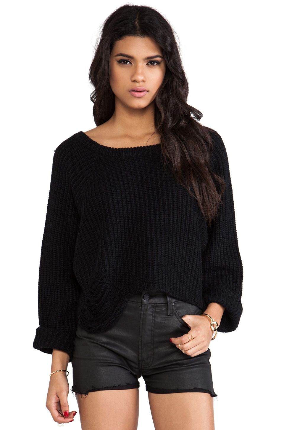 UNIF Farce Sweater in Black