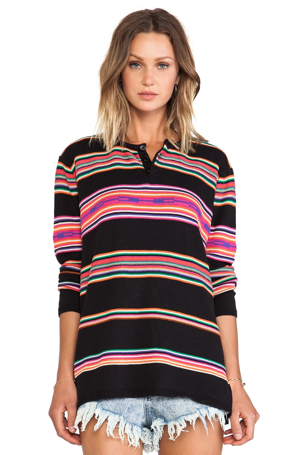 UNIF Desert Sweater in Black Multi