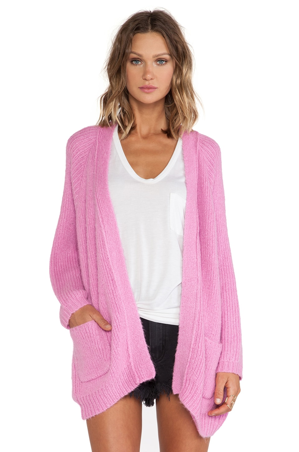 UNIF Hole Cardigan in Pink