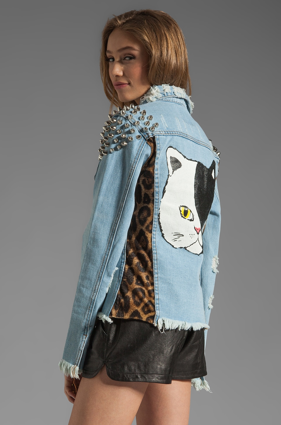 UNIF Cat Denim Jacket in Denim
