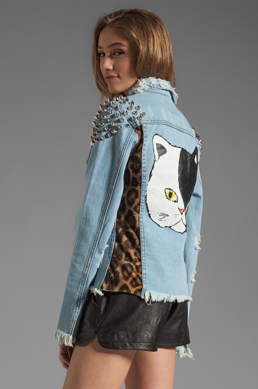 UNIF Cat Denim Jacket in Denim