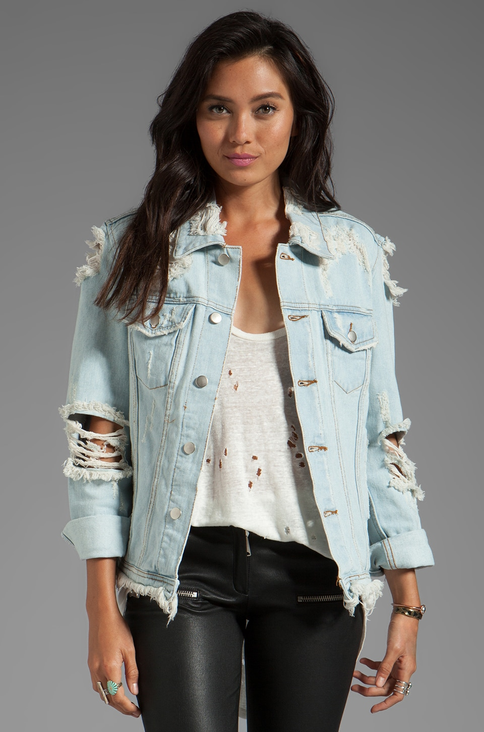 UNIF Outsider Denim Jacket in Blue