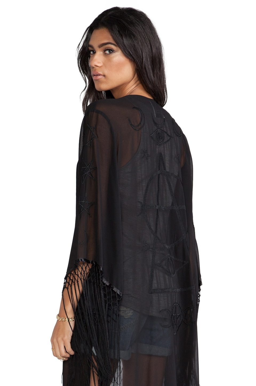 UNIF Wiccan Kimono in Black