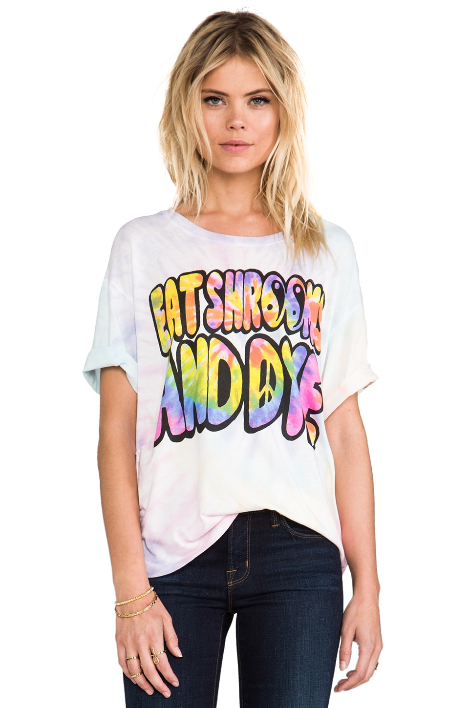 UNIF Eat Shrooms Graphic Tee in Multi