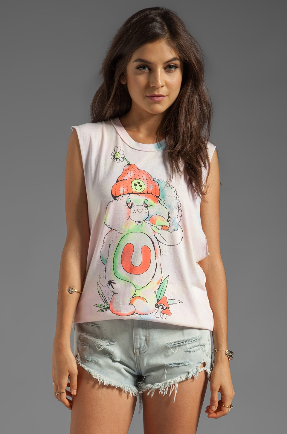 UNIF Don't Care Bear Graphic Tank in Multi