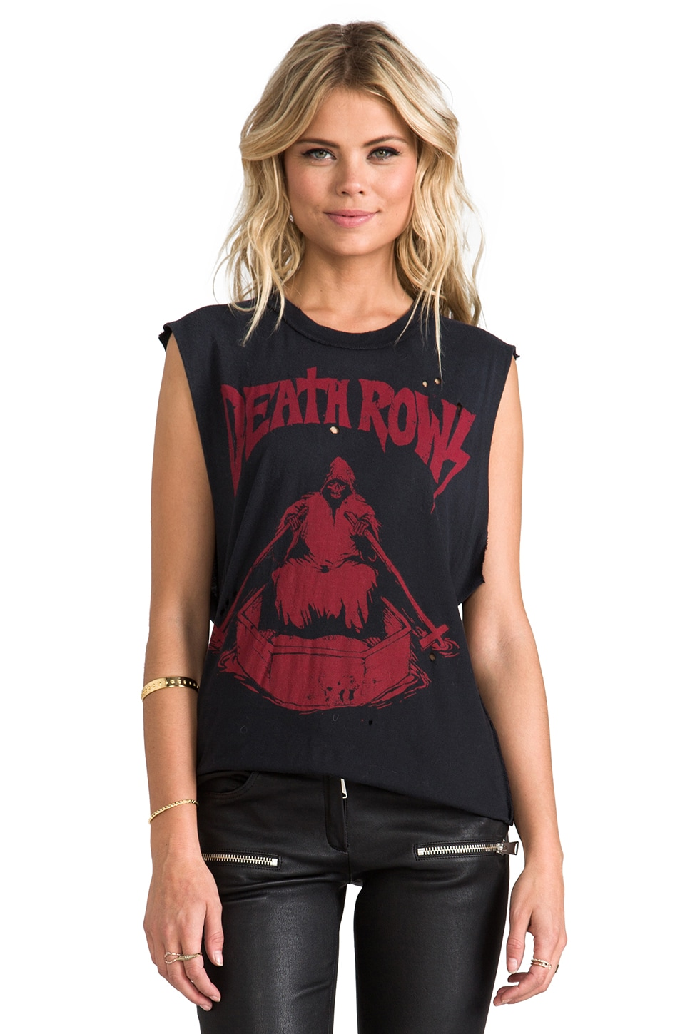 UNIF Death Rows Graphic Tank in Black