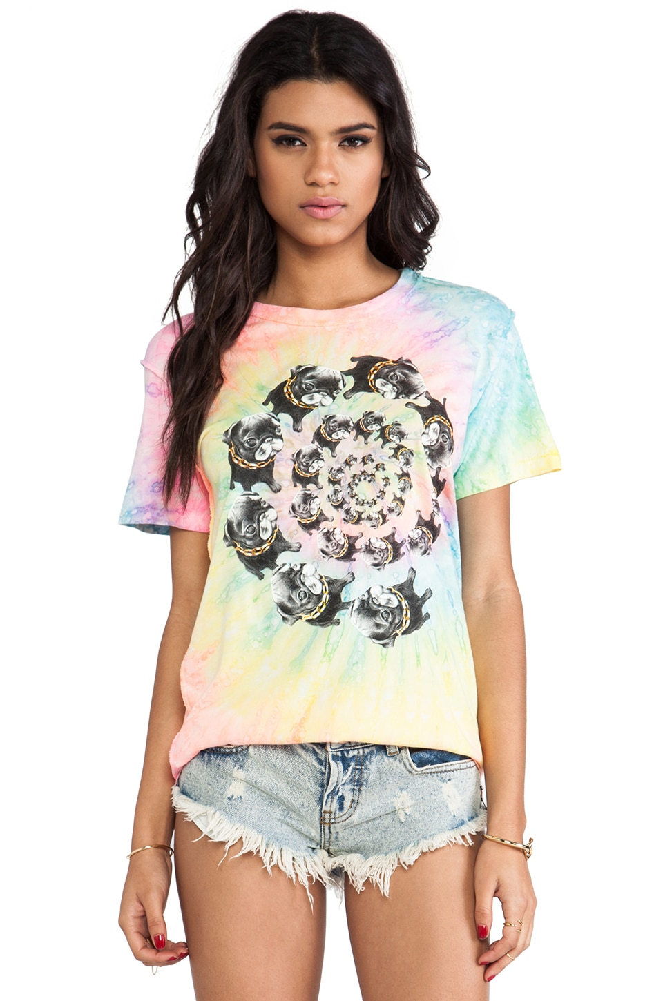 UNIF Nightmare Swirl Tee in Multi