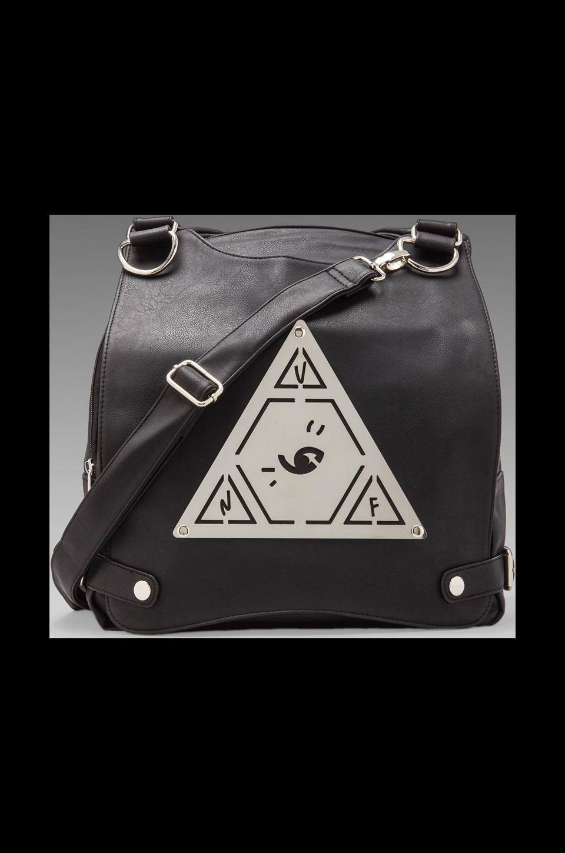 UNIF Pyramid Pack Messenger Bag in Black