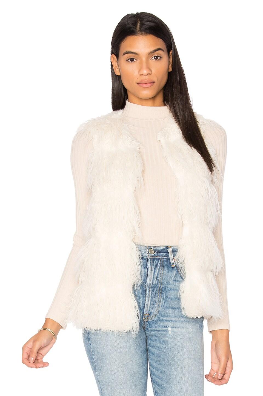 Unreal Fur Malibu Dream Faux Fur Vest in Ivory