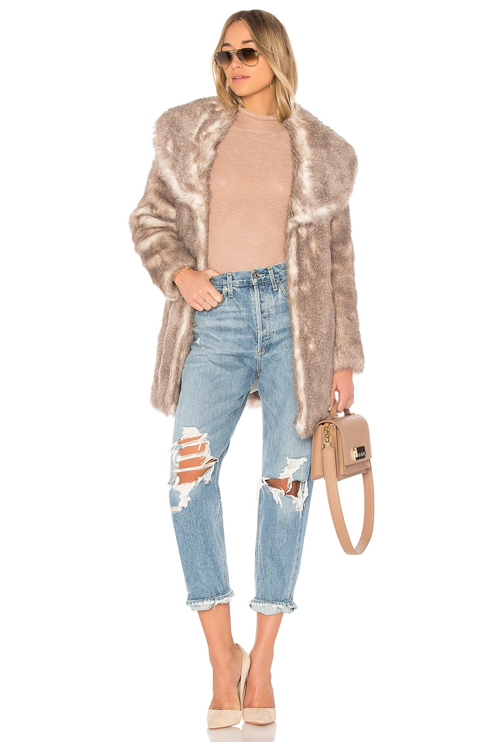 Unreal Fur Elixir Coat in Neutral