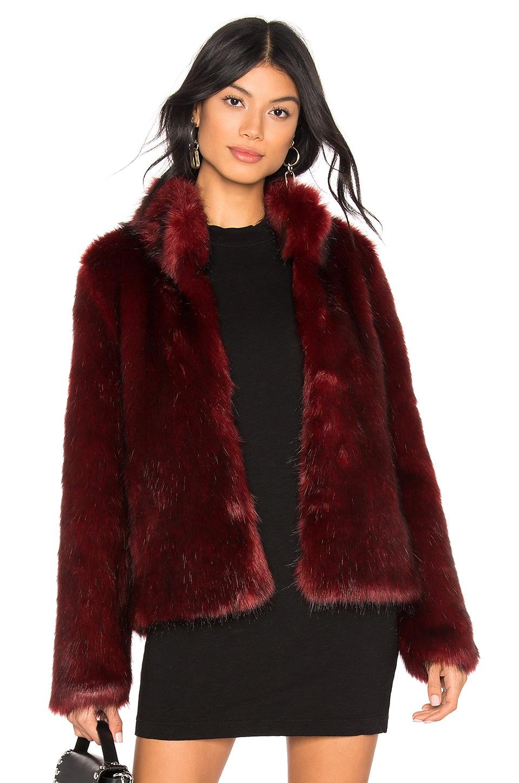 Unreal Fur Faux Fur Delish Jacket in Lush Rust