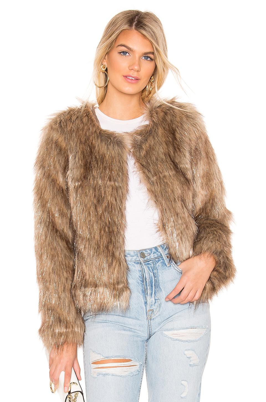 Unreal Fur Unreal Dream Faux Fur Jacket in Natural Metallic