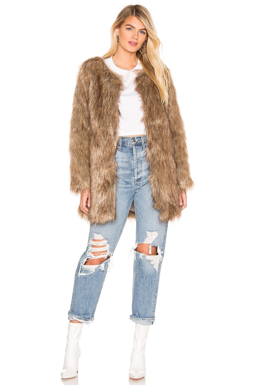Unreal Fur Wanderlust Faux Fur Coat in Natural Metallic