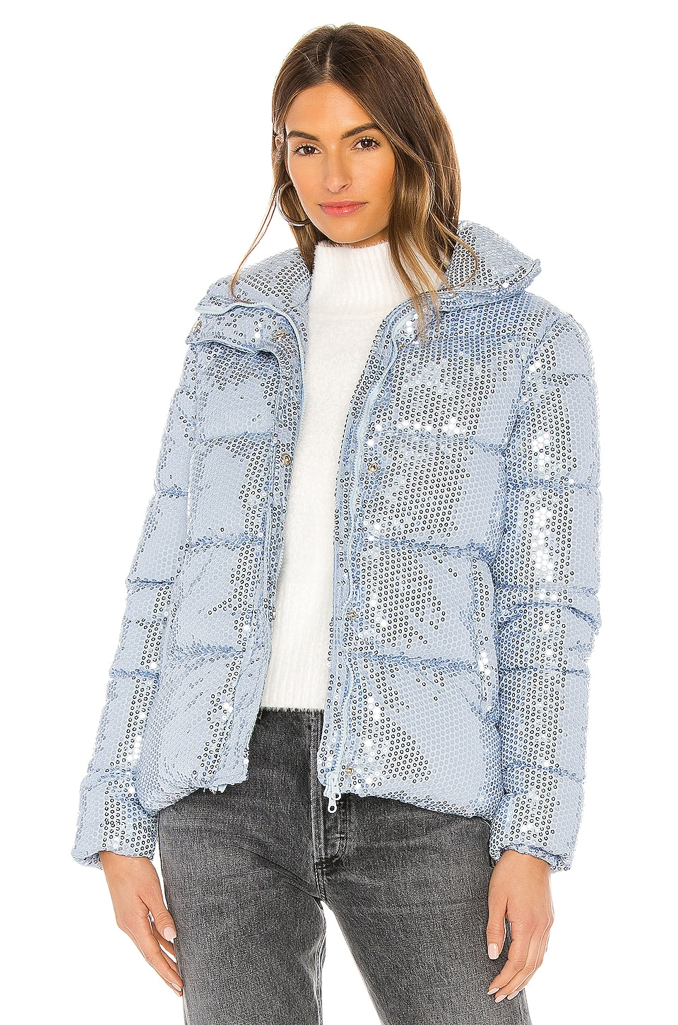 Unreal Fur Desire Jacket in Illusion Blue
