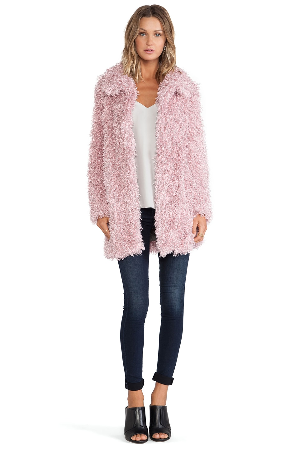 Unreal Fur De-Fur Coat in Dusty Pink | REVOLVE