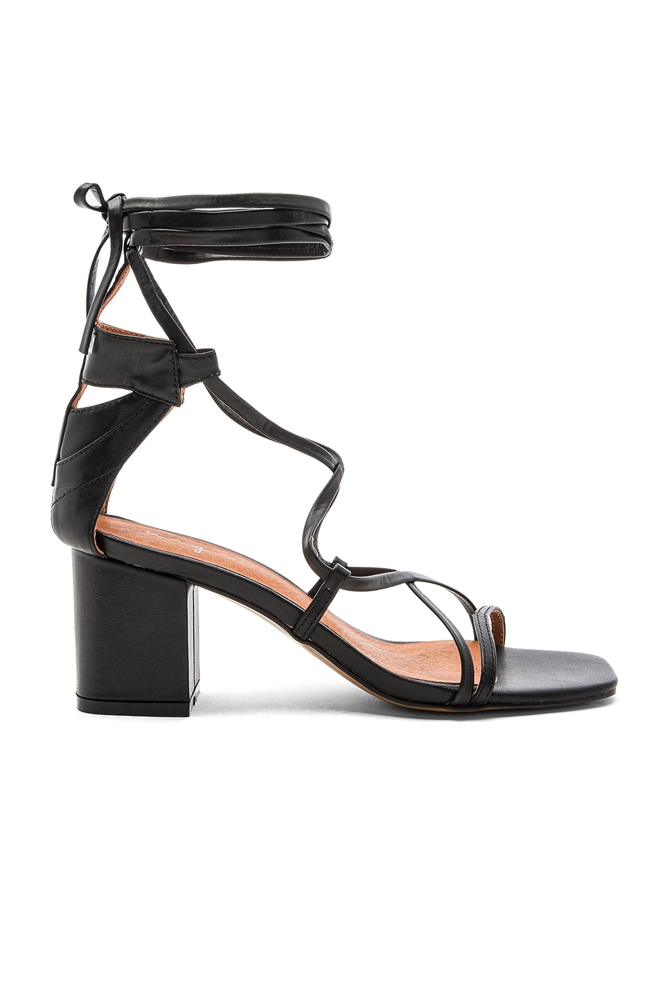 Urge Jessie Heels in Black Leather