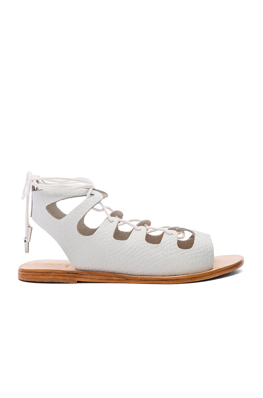 Urge Sparticus Sandal in White Croc