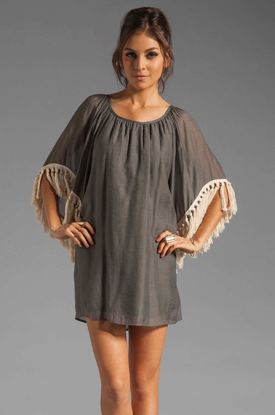 VAVA by Joy Han Amy Tassel Dress in Charcoal