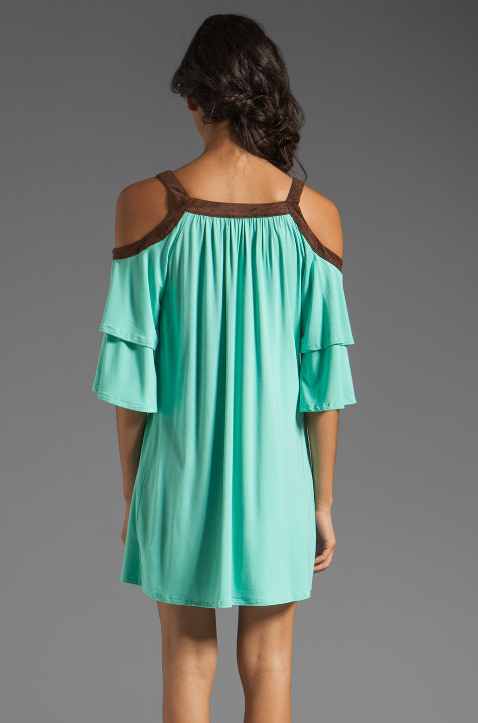 VAVA by Joy Han Piper Dress with Suede Trim in Mint