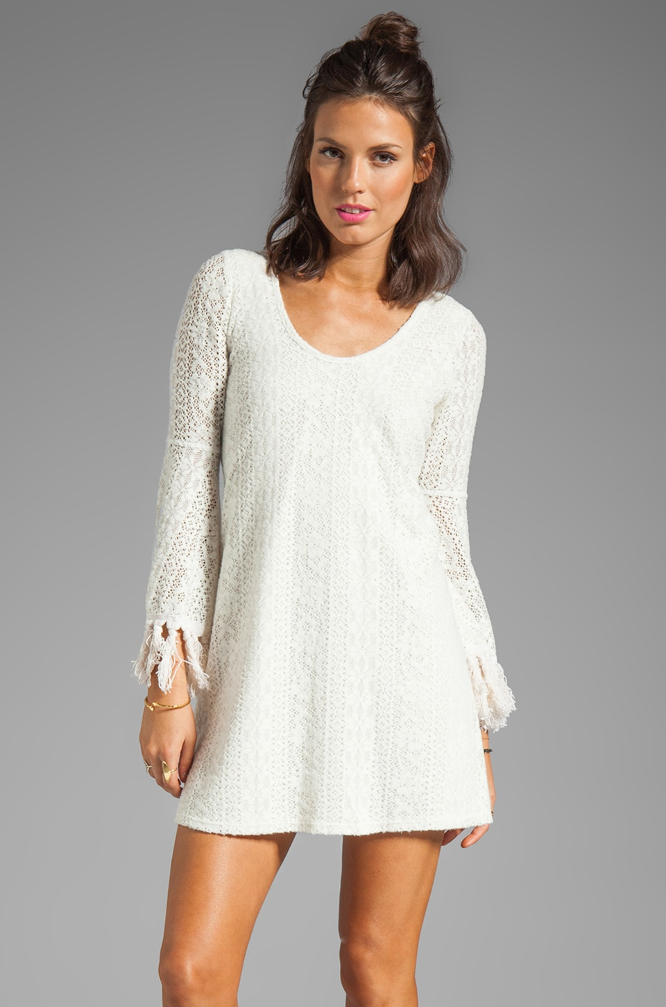 VAVA by Joy Han Chelsea Bell Sleeve Dress in White