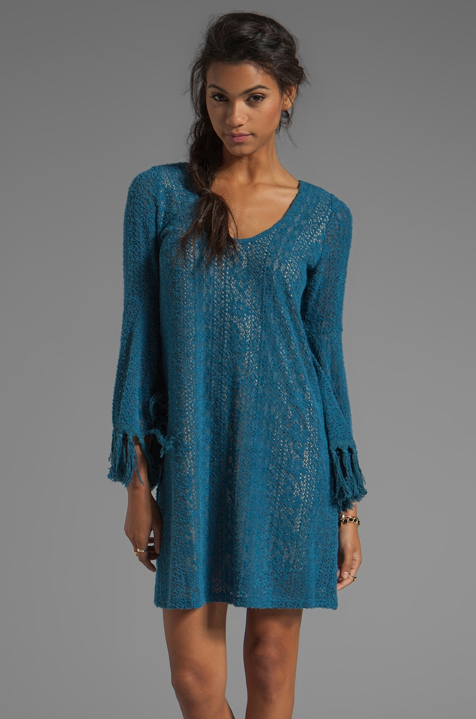 VAVA by Joy Han Chelsea Bell Sleeve Dress in Blue