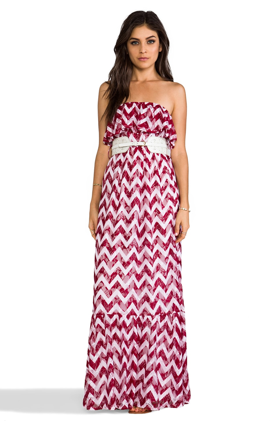 VAVA by Joy Han Amber Maxi Dress in Burgundy