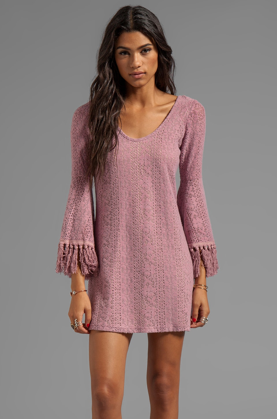 VAVA by Joy Han Chelsea Bell Sleeve Dress in Rose