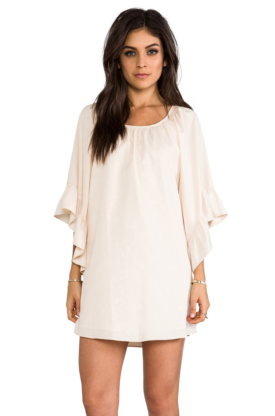 VAVA by Joy Han Holly Smock Dress in Ivory
