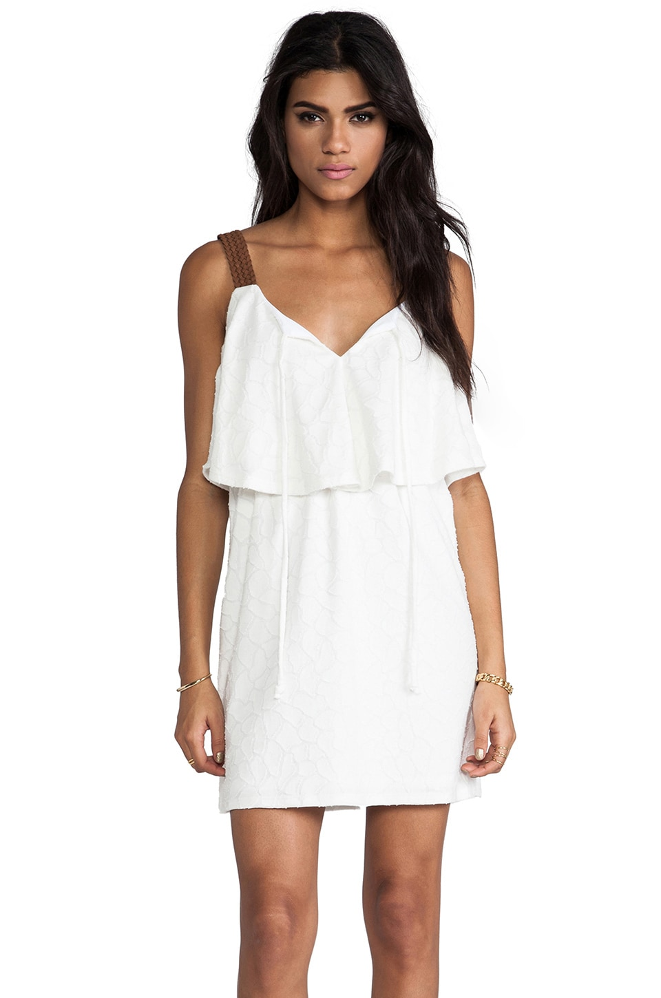 VAVA by Joy Han Wendy Babydoll Dress in White