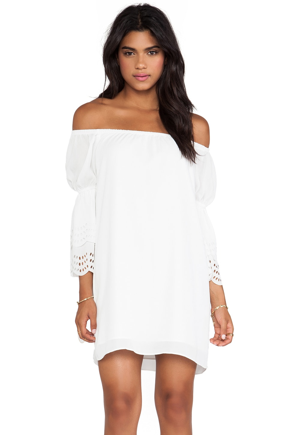 VAVA by Joy Han Celeste Off Shoulder Dress in White