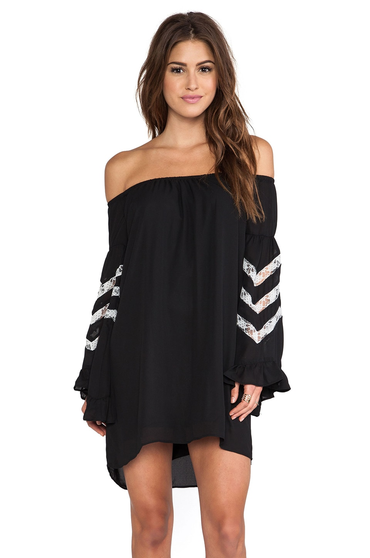 VAVA by Joy Han Miranda Off Shoulder Dress in Black