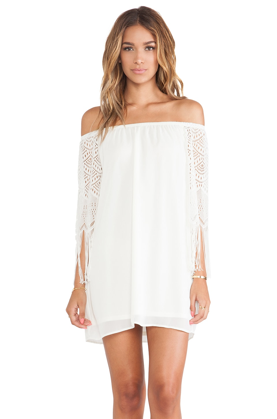 VAVA by Joy Han Farrah Off Shoulder Dress in Ivory
