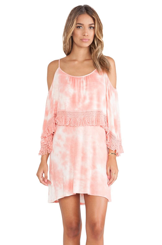 VAVA by Joy Han Mischa Open Shoulder Dress in Coral