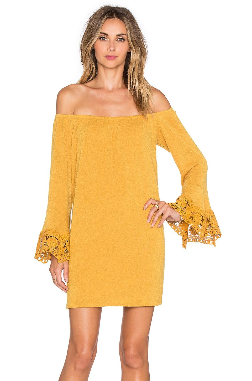 VAVA by Joy Han Joanne Off Shoulder Dress in Mustard