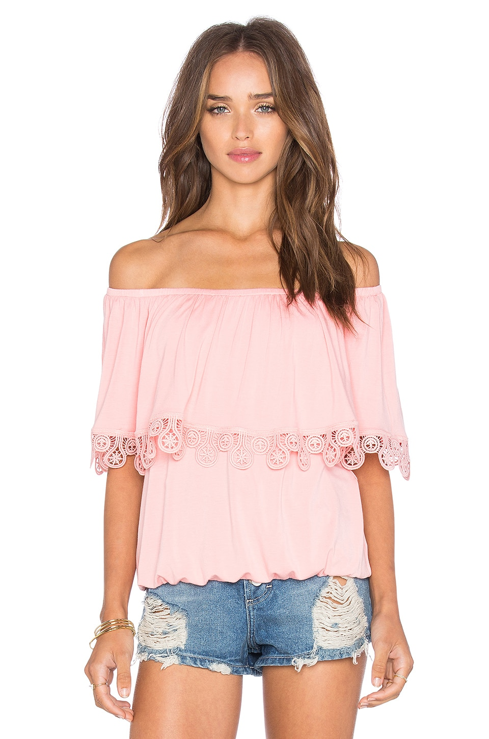 VAVA by Joy Han Bambi Off Shoulder Top in Bambi